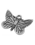 Подвеска металлическая Бабочка 16*22 мм. Цвет черненое серебро. ОПТ