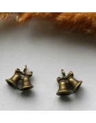 Подвеска металлическая Колокольчики 15*17 мм.  Цвет бронза
