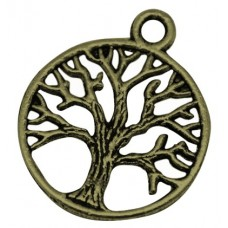Подвеска металлическая Дерево 24*20 мм. Цвет бронза