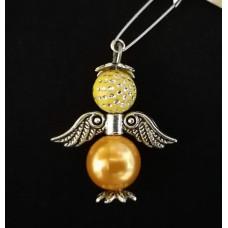 Брошка-ангел желтая