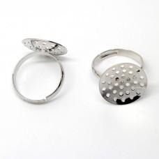 Основа для кольца с ситечком 17 мм. Цвет никель