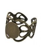 Основа для кольца безразмерная. Цвет бронза