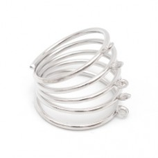 Основа для кольца Пружинка 18 мм. Цвет серебро
