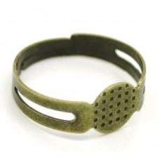 Основа для кольца с площадкой 8 мм. Цвет бронза