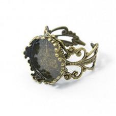 Основа для кольца ажурная с площадкой для заливки 16 мм. Цвет бронза