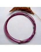 Чокер (основа для колье) пурпурный