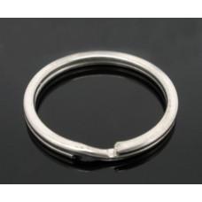 Основа для брелка 25 мм. Толщина 4 мм. Цвет никель