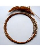 Чокер (основа для колье) светло-коричневый