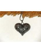Подвеска на цепочке Сердце ажурное