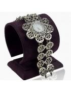 Часы наручные серебристые Ромашка