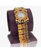 Часы наручные с эмалью Бабочка