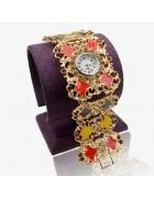 Часы наручные с эмалью Тюльпан