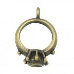 Подвеска металлическая Кольцо 17*11 мм. Цвет бронза