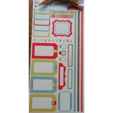 Набор наклеек Рамочки. 30*15 см
