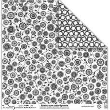 Бумага для скрапбукинга двусторонняя Черные цветы
