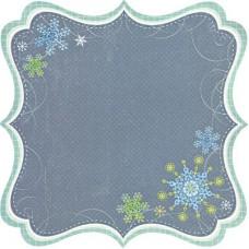 Бумага для скрапбукинга односторонняя Снежинка с ажурным краем