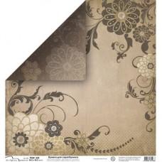 Бумага для скрапбукинга двусторонняя Цветы