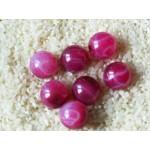Бусины пластиковые темно-розовые с узором 18 мм