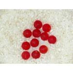 Стеклянные бусины лэмпворк круглые матовые красные 9 мм
