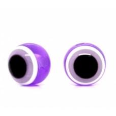 Бусины пластиковые глазки сиреневые 10 мм