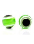Бусины пластиковые глазки зеленые. 10 мм