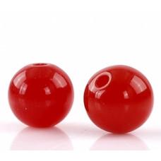 Бусины пластиковые красные 8 мм