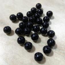 Бусины пластиковые черные 10 мм