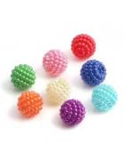 Бусины пластиковые Ягодки микс 8 шт. 10 мм