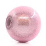 Бусины  пластиковые перламутровые розовые 8 мм