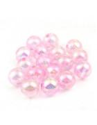 Бусины пластиковые полупрозрачные розовые 10 мм