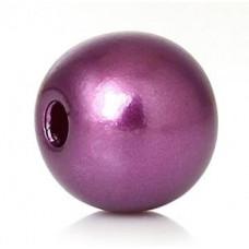 Бусины пластиковые под жемчуг бордово-фиолетовые 8 мм