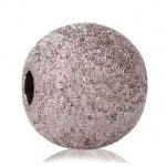 Бусины пластиковые с фольгированным эффектом темно-розовые 6 мм