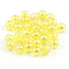Бусины пластиковые полупрозрачные желтые 8 мм