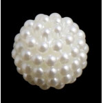 Бусины пластиковые Ягодки белые 14 мм