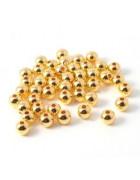 Бусины пластиковые золотистые 8 мм. Отверстие 2 мм