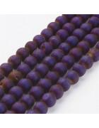 Бусины каменные агат гальванизированный с друзой фиолетовые 8 мм