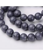 Бусины каменные нефрит (жадеит) темно-серые. 6 мм