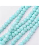 Бусины каменные нефрит (жадеит) светло-голубые. 6 мм