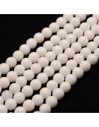 Бусины каменные нефрит (жадеит) белые. 6 мм