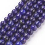 Бусины каменные лазурит темно-синие. 4 мм