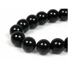 Бусины каменные агат черные. 8 мм