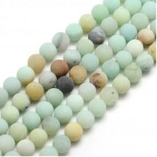 Бусины каменные амазонит матовые. 8 мм