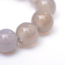 Бусины каменные агат прозрачно-серые. 6 мм