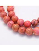 Бусины каменные агат красно-оранжевые. 8 мм