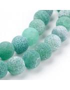 Бусины каменные агат кракле зеленые 10 мм