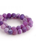 Бусины каменные агат кракле фиолетовые 10 мм