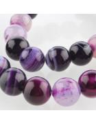 Бусины каменные агат полосатые фиолетовые 10 мм