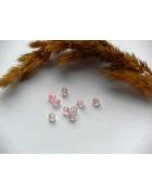 Бусины пластиковые биконус микс прозрачные/розовые. 10 шт