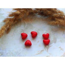 Бусины пластиковые Сердечки 11 мм