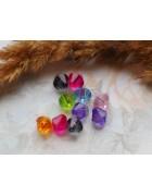 Бусины пластиковые биконусы акриловые разноцветные. 8 мм. 10 шт